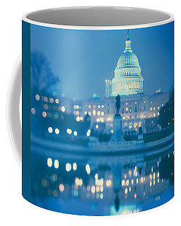 Government Building Lit Up At Night Coffee Mug