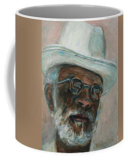 Gray Beard Under White Hat Coffee Mug by Xueling Zou