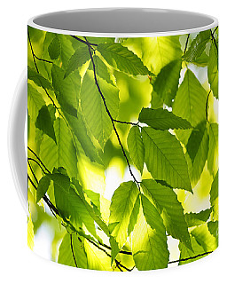 Green Spring Leaves Coffee Mug