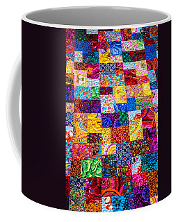 Hand Made Quilt Coffee Mug by Sherman Perry