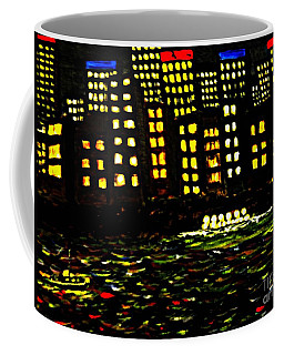Coffee Mug featuring the painting Harbour Lights by Leanne Seymour