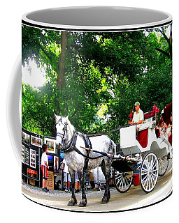 Horse And Carriage In Central Park Coffee Mug