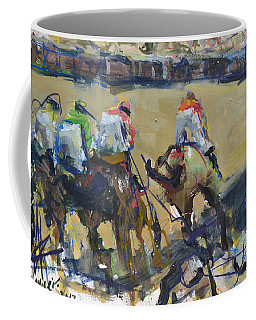Horse Racing Painting Coffee Mug