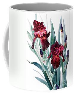 Dark Red Tall Bearded Iris Donatello Coffee Mug