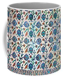 Iznik Ceramics With Floral Design Coffee Mug