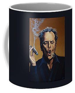 Jack Nicholson Painting Coffee Mug by Paul Meijering