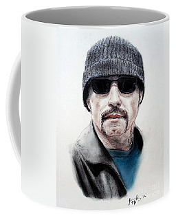Coffee Mug featuring the mixed media John Travolta In The Taking Of Pelham 123  by Jim Fitzpatrick