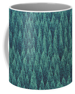 Green Tree Coffee Mugs