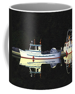 Coffee Mug featuring the painting Last Light  Island Moorage by Gary Giacomelli