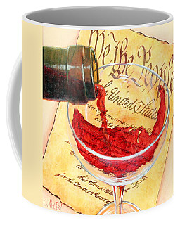 Coffee Mug featuring the painting Let Freedom Ring by Sandi Whetzel
