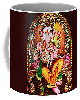 Coffee Mug featuring the painting Lord Ganesha by Harsh Malik