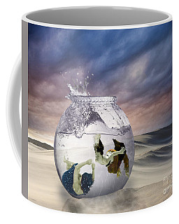 2 Lost Souls Living In A Fishbowl Coffee Mug