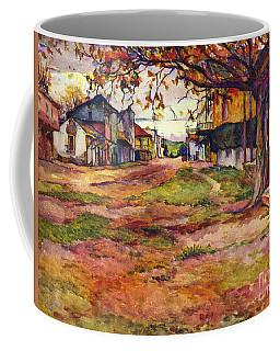 Main Street Of Early Spanish California Days San Juan Bautista Rowena M Abdy Early California Artist Coffee Mug