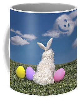 Maltese Easter Bunny Coffee Mug