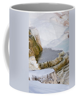 Coffee Mug featuring the photograph Mammoth Terraces by Michael Chatt