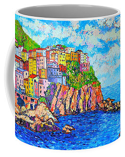 Manarola Cinque Terre Italy  Coffee Mug by Ana Maria Edulescu