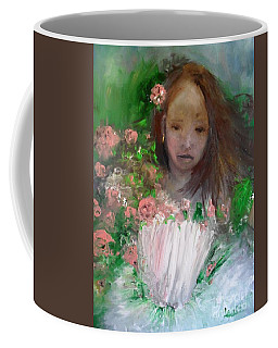 Coffee Mug featuring the painting Mary Rosa by Laurie Lundquist