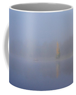 Misty Morning On A Lake Coffee Mug by Jouko Lehto