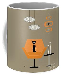 Coffee Mug featuring the digital art Mod Chair In Orange by Donna Mibus