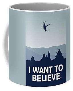 My I Want To Believe Minimal Poster-xwing Coffee Mug