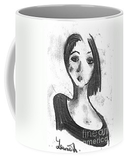 Coffee Mug featuring the drawing Nadia by Laurie L