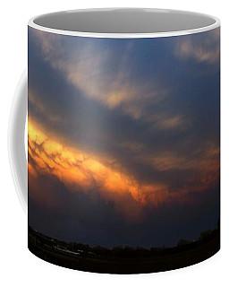 Coffee Mug featuring the photograph Nebraska Mammatus Sunset by NebraskaSC