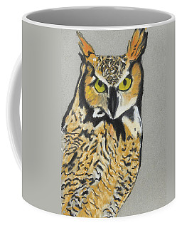 Coffee Mug featuring the painting Night Owl by Jeanne Fischer