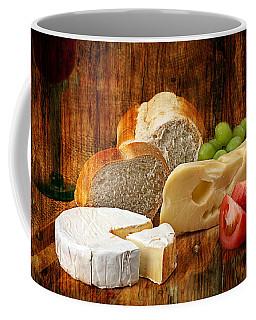 Coffee Mug featuring the photograph Norwegian Jarlsberg And Camembert by Gunter Nezhoda