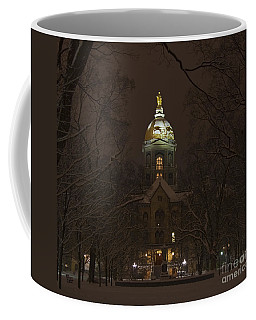 Notre Dame Golden Dome Snow Coffee Mug