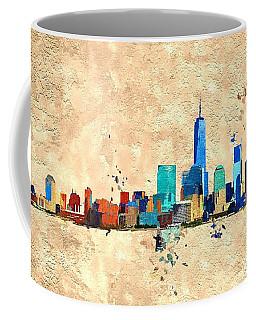 Nyc Grunge Coffee Mug by Daniel Janda
