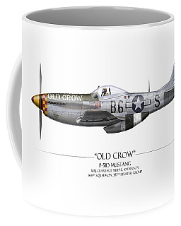 Old Crow P-51 Mustang - White Background Coffee Mug
