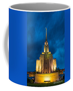 Oquirrh Mountain Lds Temple Evening Thunderstorm Coffee Mug