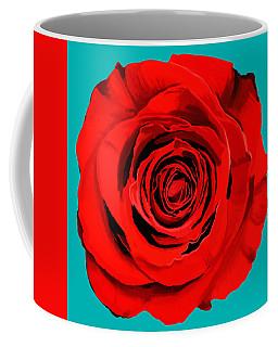 Painting Of Single Rose Coffee Mug
