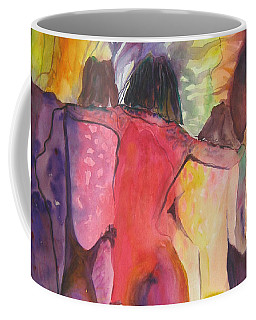 Coffee Mug featuring the painting Passage by Diana Bursztein