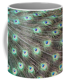 Coffee Mug featuring the photograph Peacock Feather Fiesta  by Diane Alexander