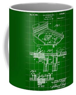 Pinball Machine Patent 1939 - Green Coffee Mug