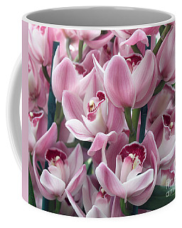 Coffee Mug featuring the photograph Pink Orchids by Debbie Hart