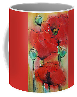 Poppies I Coffee Mug by Jani Freimann
