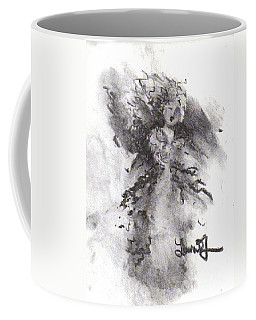 Coffee Mug featuring the drawing Rapture Of Peace by Laurie Lundquist