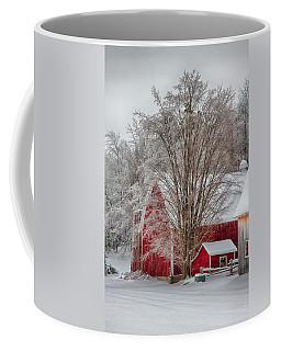 Red Vermont Barn Coffee Mug