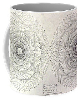 Coffee Mug featuring the drawing Relativity by Jason Padgett