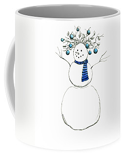 Coffee Mug featuring the painting Snow Attire by Katherine Miller