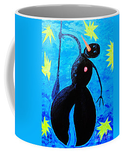 Coffee Mug featuring the painting Snowman by Viktor Lazarev