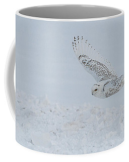 Coffee Mug featuring the photograph Snowy Owl #2/3 by Patti Deters