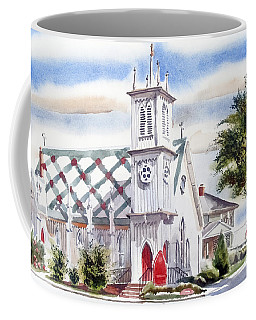 Coffee Mug featuring the painting St Pauls Episcopal Church  by Kip DeVore