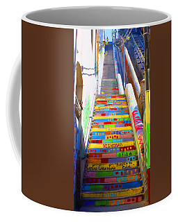 Stairway To Heaven Valparaiso  Chile Coffee Mug by Kurt Van Wagner