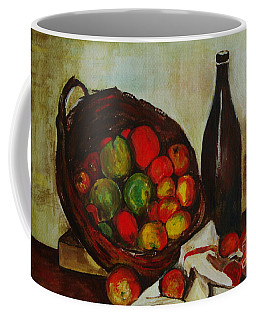 Still Life With Apples After Cezanne - Painting Coffee Mug