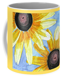 Coffee Mug featuring the painting Summer Susans by Angela Davies
