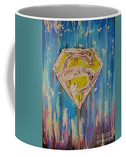 Coffee Mug featuring the painting Superman's Shield by Justin Moore