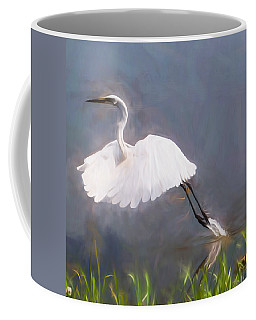 Coffee Mug featuring the photograph Taking Flight by John Freidenberg